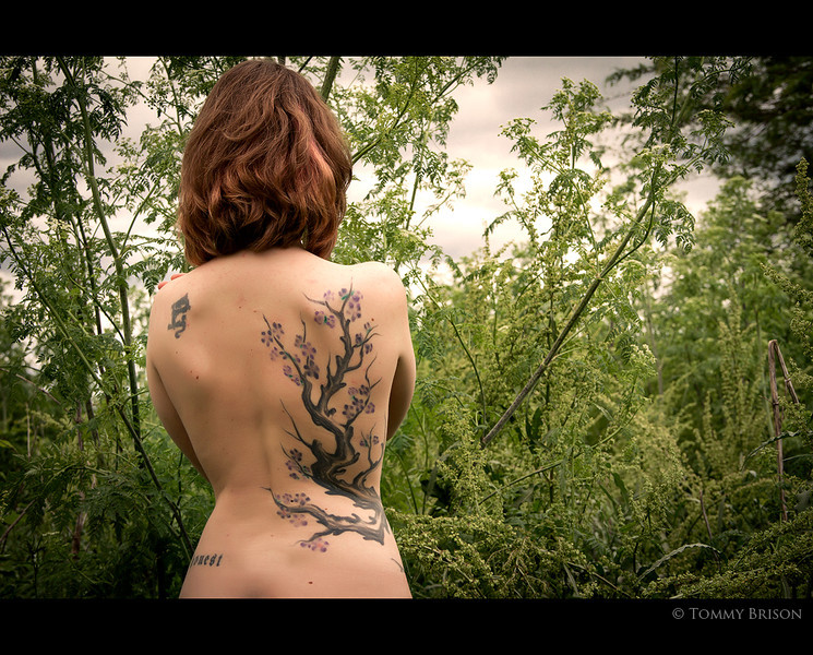 I love this young ladies back piece.....and figured it would be a perfect addition to my Nature and the body project.  If you want to be a part of it...please let me know...