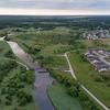 Rivers Crossing subdivision - bridge across Fox River