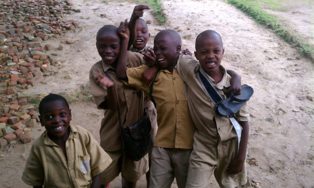 The kids are always smiling. They don't know any other way of life and are just being kids.