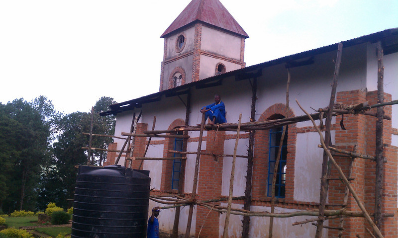 I think this was a Presbyterian church. I could be mistaken; frankly we don't ask what religion they are. Our locations are picked by the Rwandans. It was only 38 feet of gutter.