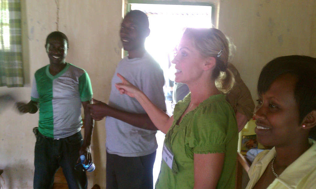 From the left; Jados, Alfonse, Deborah and Nadia, our translator.