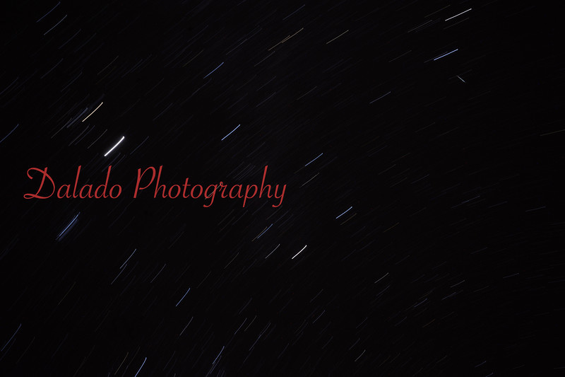 The Gemind meteor shower is shown here. A meteor (small slither pointing in opposite direction of stars) is seen from Route 125 on Mahanoy Mountain, south of Gowen City.
