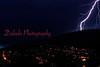 Lightning striking Big Mountain near Coal Township.