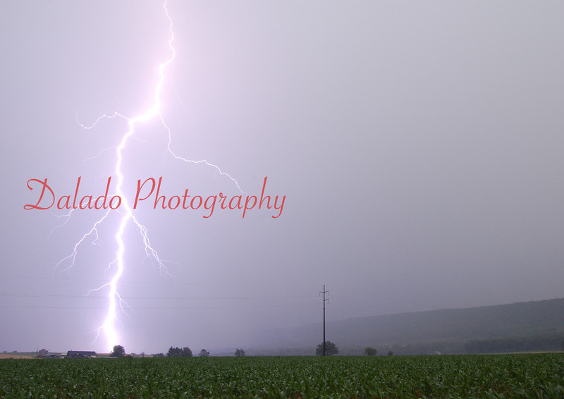 This is about as close as I have ever been to lightning. The photo was taken around 2007 in Bear Gap.