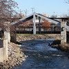 Pedestrian bridge over the Fox River in Waukesha, WI