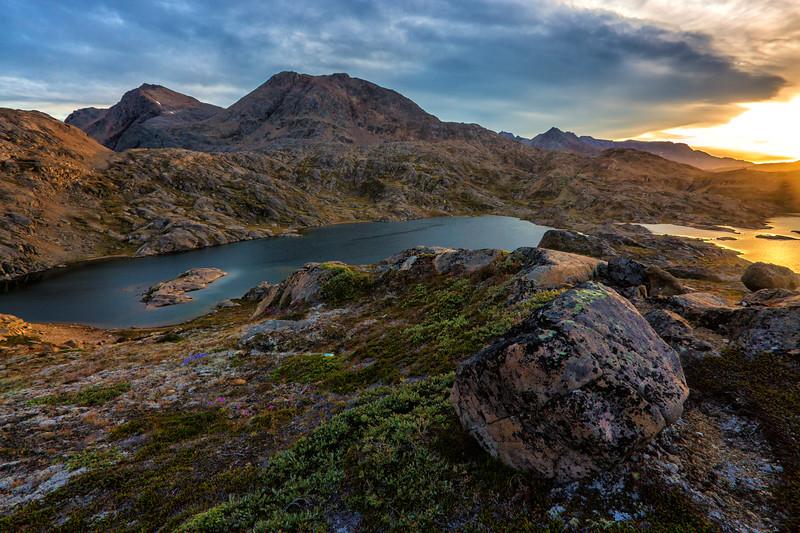 Valley at Sunset, Tasiilaq, Greenland