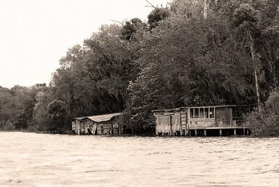 old fishing shacks