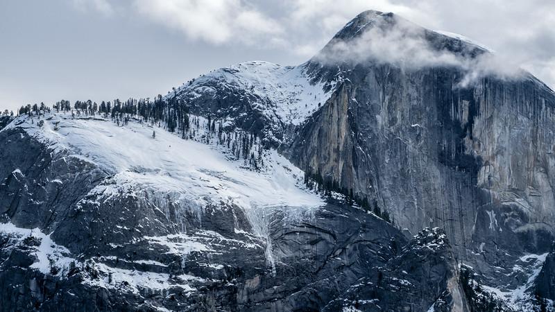 Half Dome Hanging Clouds, Yosemite National Park