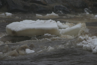 Ice out on the Little Fork River.