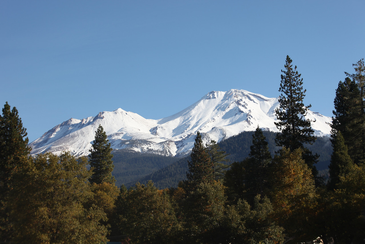 On our drive from Las Vegas to Portland. This is Mt. Shasta in Northern California.