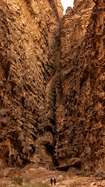 Figures in Canyon, Wadi Rum, Jordan