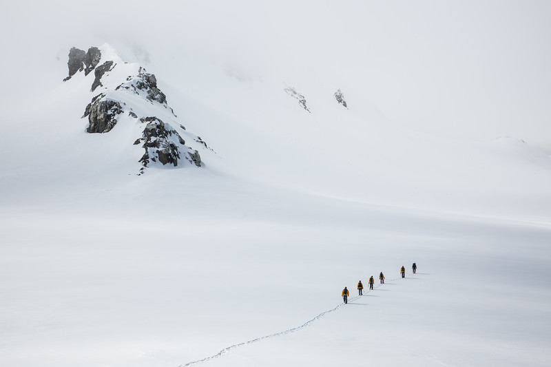 Mountaineering, Laurie Island, South Orkney Islands