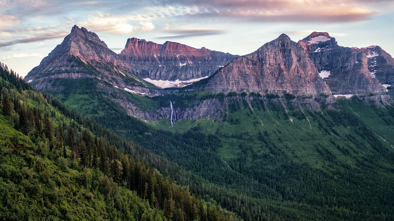 Mountains at Dusk, Glacier National Park