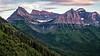 Mountains at Dusk, Glacier National Park