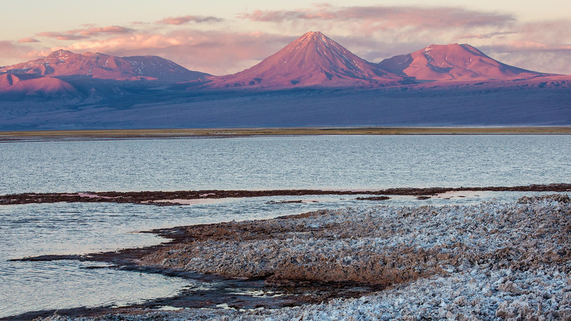 Volcanos and Salt Flats, Atacama, Chile