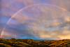 Rainbow over Banks Peninsula, New Zealand