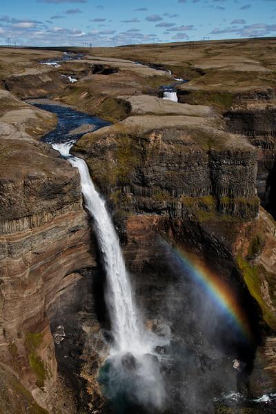 Falls and Rainbow, Iceland