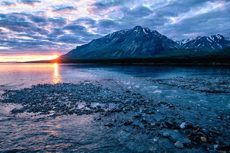 Sunset at Lower Twin Lake, Alaska