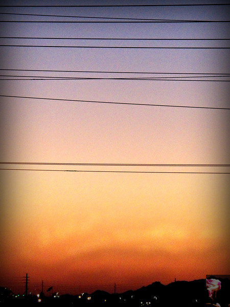Sun set into the White Tanks Mt.s