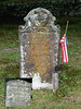 """This was a little hometown mystery until I mentioned it to a friend who was researching his Ackeley relatives who sent me to this site: <a href=""""http://tinyurl.com/ncmvy6f"""">http://tinyurl.com/ncmvy6f</a><br /> <br /> The gravestone of Green Plumb in Ackeley Cemetery, East Haddam, CT says that he was a veteran of the French and Indian War in Captain Lattimore's company. The flag is decorated with a Revolutionary War medallion and an eagle feather."""