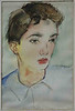 Contact me at ichabod999@earthlink.net - Watercolor of me at age 12 by Zero Mostel