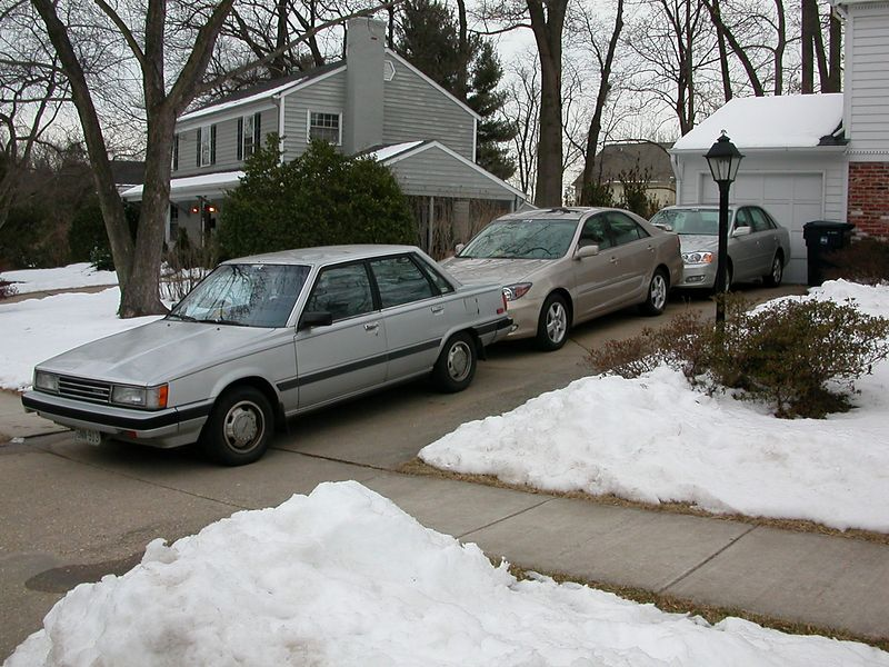 14 Feb 2003. The fleet positioned for easy exit and to enable driving most of the snow off instead of shoveling.