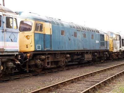 Class 26_26011 seen at Barrow Hill    22/11/08