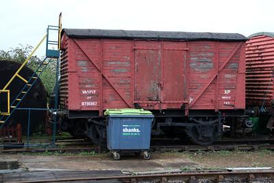 B781387 12t Vent Goods Van at Wansford  21/10/13.