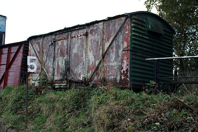 B855021 12t Vent Van Grounded at the rear of Wansford Shed  21/10/13.