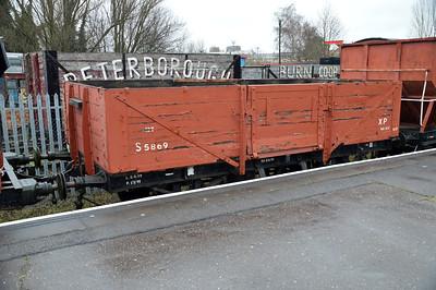 S 5869 13t 5 Plank Open at Nene Station   13/02/16.