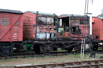 LNER 20T Chassis No7 with 2 x UID 4t BD ContainerS on top at Wansford  21/10/13.