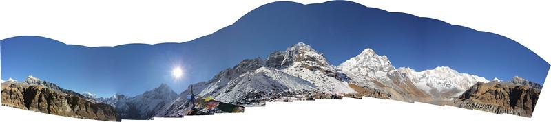 Panorama at Annapurna Base Camp (ABC)