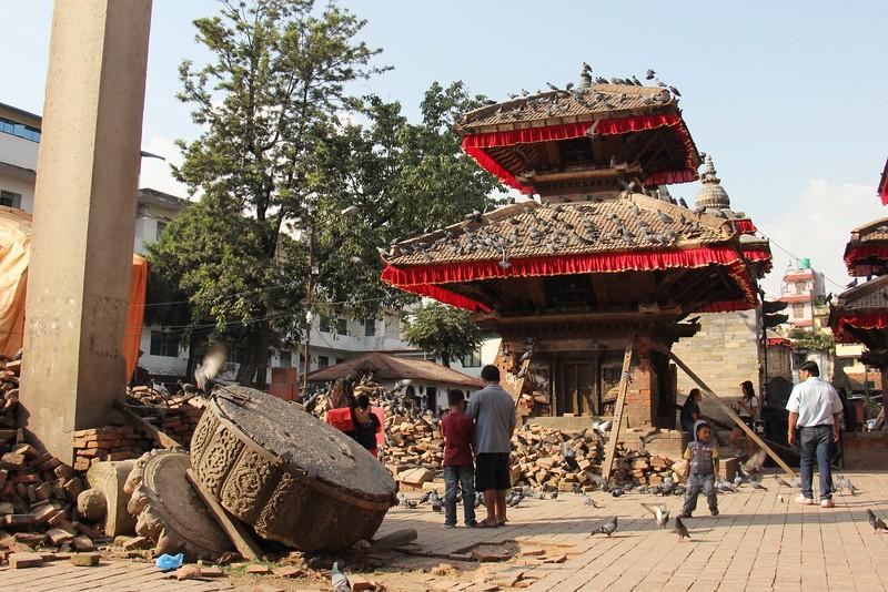 Earthquake damage in Kathmandu Durbar Square