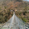 While crossing my first suspension bridge of the walk.