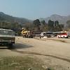 The Besi Sahar Bus Park.