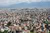 view from swayambhunath stupa.  kathmandu