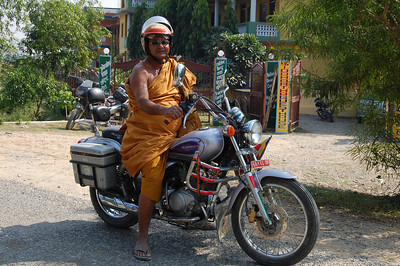 Biker monk rocking it in Lumbini.