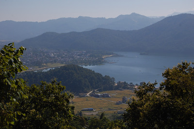 Lovely views back down to Pokhara and Lake Phewa Tal.