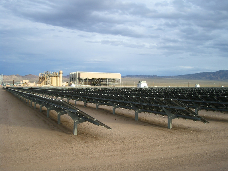 Right next door is Sempra's El Dorado gas fired power plant, which has since had a major solar project addition, consisting of 167,000 recyclable thin film solar modules covering 80 acres.