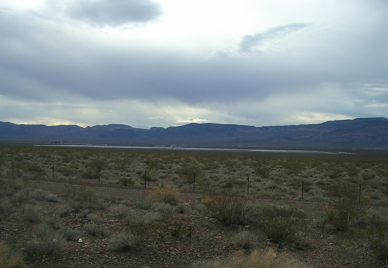 The Nevada One Solar Project as seen from the nearest highway. It is a concentrating solar thermal plant which covers 440 acres and has a capacity of 64MW. It cost somewhere in the range of U.S. $220 to $250 million.