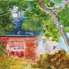 """Red Barn - Cotuit, Cape Cod<br /> 11"""" X 15""""<br /> Price: $100."""