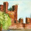 """Castlefrance Veneto City Walls, Italy<br /> 22"""" x 15"""" <br /> Price: $150."""