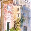"""Hilltop Village of Mougins, Southern France<br /> 15"""" X 11""""<br /> Price: $200."""