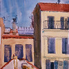 """A Balcony View - Cannes, France<br /> 11"""" X 15"""" <br /> Price: $125."""