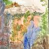 """Hillside View - Triori Di Molina, Italy<br /> 11"""" X 15"""" <br /> Price: $200."""