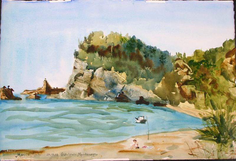 """Coastal Inlet, Montenergo<br /> 22"""" X 15"""" <br /> Price: $200"""