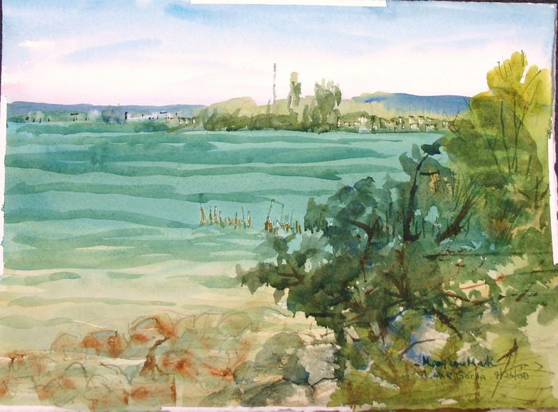 "Lake Garda - Sirmione, Italy<br /> 11"" X 15""<br /> Price: $100."