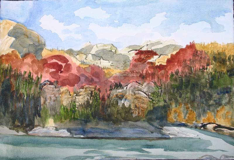 "Black Lake National Park - Montenergo<br /> 22"" X 15""<br /> Price: $350."