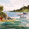 "Riviera Coastal Inlet - Agay, France<br /> 11"" X 15""<br /> Price: $200."