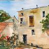 """Bargemon Back Street, France<br /> 19.5"""" X 12.5""""<br /> Price: $300."""